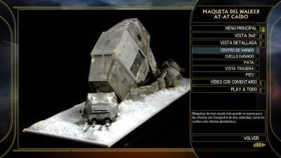 La saga completa de Star Wars: Maqueta ATAT caído. Edición Blu-ray