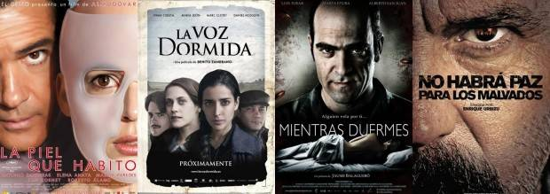 Carteles de las finalistas de los Goya 2012