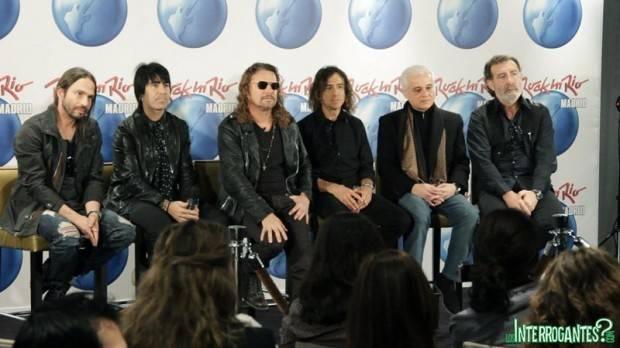 Maná durante la presentación de Rock in Rio Madrid 2012