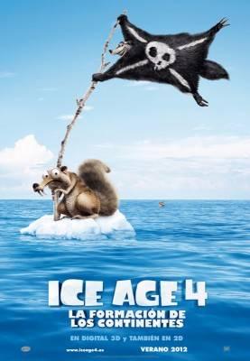 Cartel de Ice Age 4 La formacion de los continentes