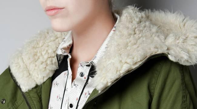 La parka en su modelo para Zara - Invierno 2012