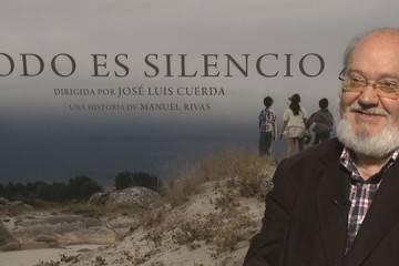 José Luis Cuerda durante la entrevista promocional de 'Todo es silencio'