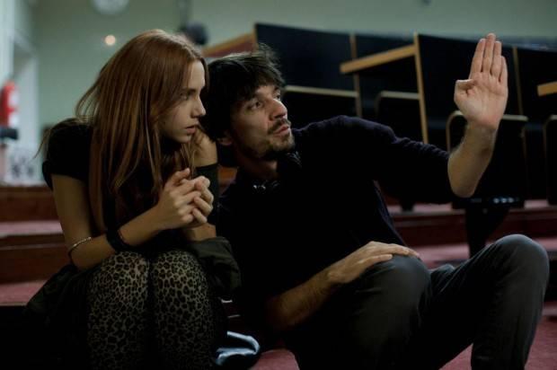 El Cuerpo - Rodaje donde vemos a la actriz Aurora Garrido con el director Oriol Paulo