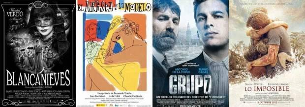 Películas que parten como favoritas para los Premios Goya 2013