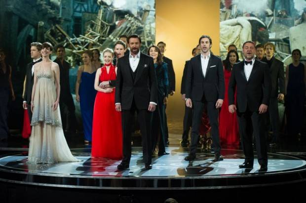 Actuación durante la gala de los Oscar 2013