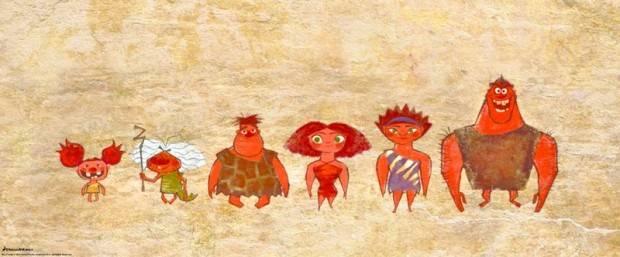 Los Croods pintados