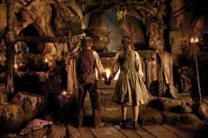 Hansel y Gretel tras matar a la bruja