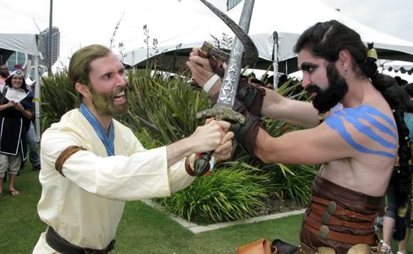 Khal Drogo y Ser Jorah en el Comic-Con