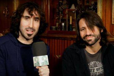 Grito Canalla durante entrevista y acústico