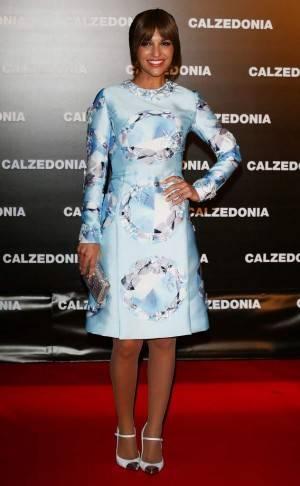 Paula Echevarría posando en 'Calzedonia Fashion Summer Show 2013'
