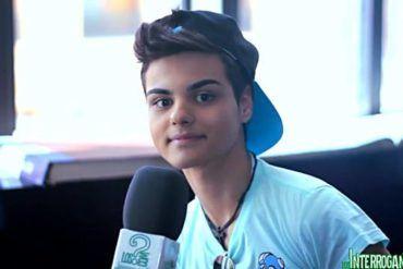 Abraham Mateo durante la entrevista para LosInterrogantes.com