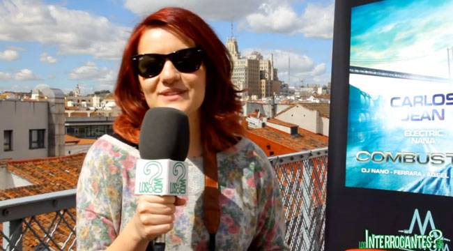 Electric Nana durante la entrevista a LosInterrogantes.com