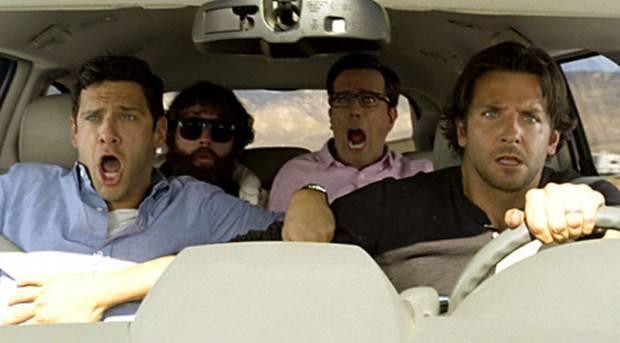 Bradley Cooper, Ed Helms, Justin Bartha y Zach Galifianakis en 'Resacón 3'