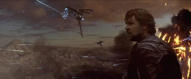 Russell Crowe en la película El hombre de acero
