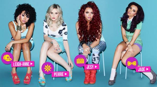 Little Mix posando para su disco 'DNA'