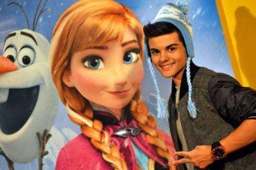 """Abraham Mateo pone banda sonora a la película """"Frozen, el Reino del Hielo"""""""