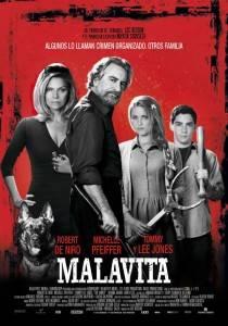 """Cartel de la película """"Malavita"""""""