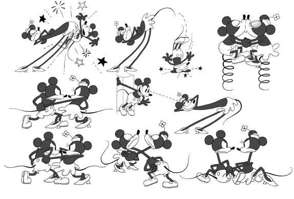 """Imagen del corto de animación """"Get a horse!"""" (2013) con Mickey Mouse"""