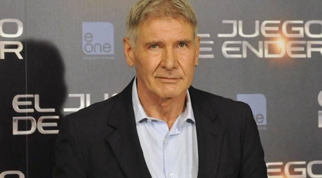 """Harrison Ford presentando """"El juego de Ender"""" durante su visita en Madrid"""