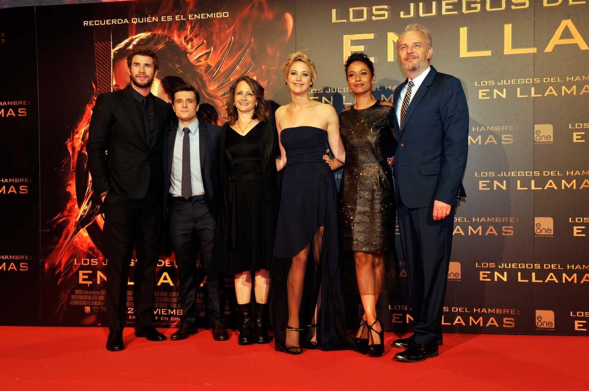 Video De La Premiere En Madrid De Los Juegos Del Hambre 2 En Llamas