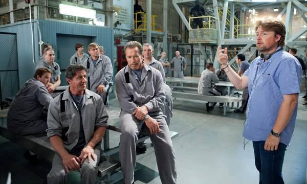 "Sylvester Stallone, Arnold Schwarzenegger y el impronunciable director de ""Plan de escape"" Mikael Håfström"