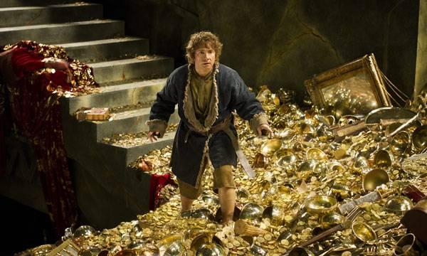 Bilbo Bolsón en la sala del tesoro