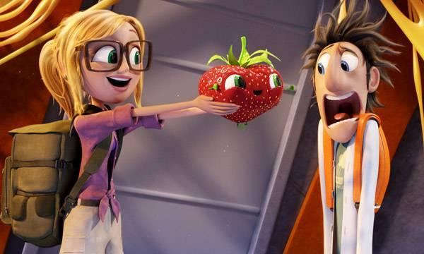 """¿Puede haber fresa más mona que """"Fresi""""? - Imagen de la película """"Lluvia de albónidigas 2"""""""