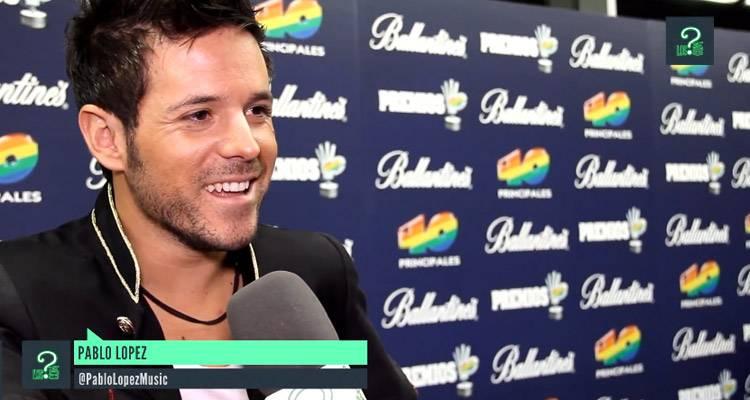Imagen de la entrevista a Pablo López en los Premios 40 Principales 2013
