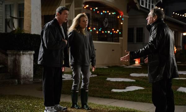 """Sylvester Stallone, Kim Basinger y Robert De Niro en la película """"La gran revancha"""""""