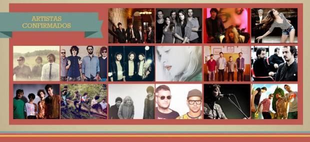 """Cartel de artistas confirmados en """"101 Sun Festival"""" (2014)"""