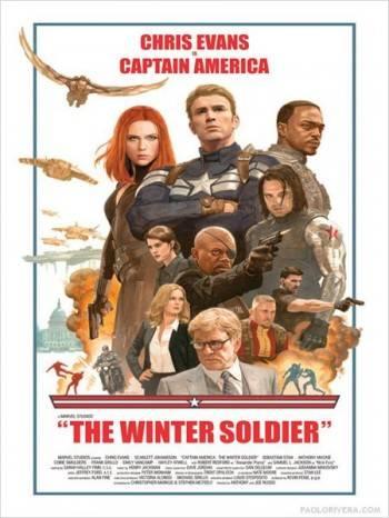 Capitán América: El Soldado de Invierno - Cartel por Paolo Rivera