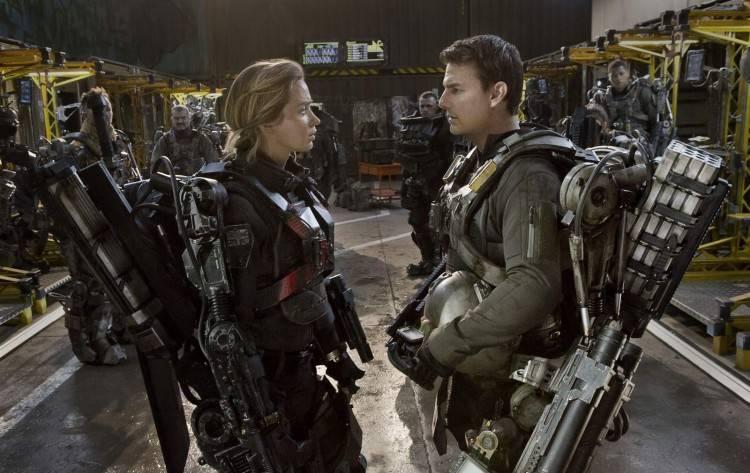 Emily Blunt y Tom Cruise en la película 'Al filo del mañana'