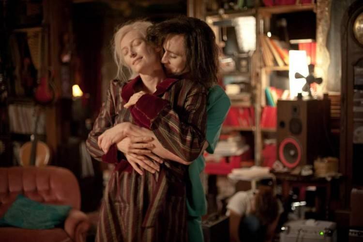 Tilda Swinton (Eva) y Tom Hiddleston (Adán)