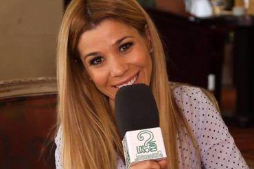 Natalia durante la entrevista a LosInterrogantes.com presentando 'Dame'