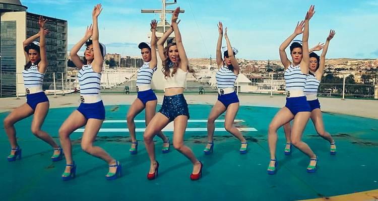 Imagen de Natalia en el videoclip de 'Dame'Imagen de Natalia en el videoclip de 'Dame'