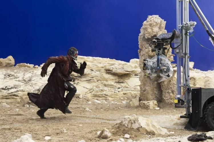 Imagen del rodaje de 'Guardianes de la Galaxia'
