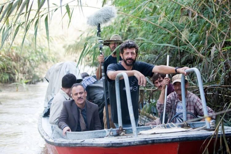 Javier Gutiérrez junto al director Alberto Rodríguez en 'La isla mínima'