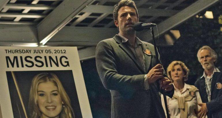 Benn Affleck en rueda de prensa ficticia en 'Perdida'
