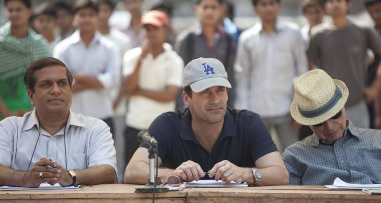 """Darshan Jariwala, Jon Hamm y Alan Arkin en """"El chico del millón de dólares"""""""