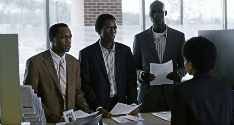 Arnold Oceng, Emmanuel Jal y Ger Duany en 'La buena mentira'