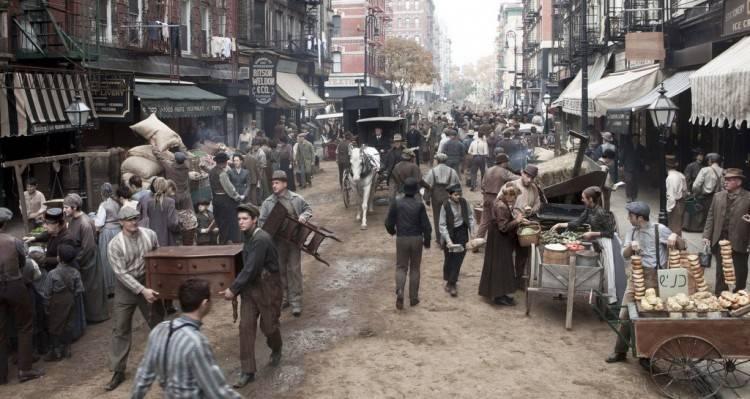 Recreación en Manhattam de una antigua calle de Nueva York - Serie The Knick
