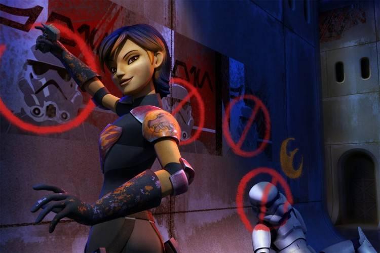 Sabine, la más rebelde de los rebeldes 'Star Wars Rebels: La chsipa de la rebelión'