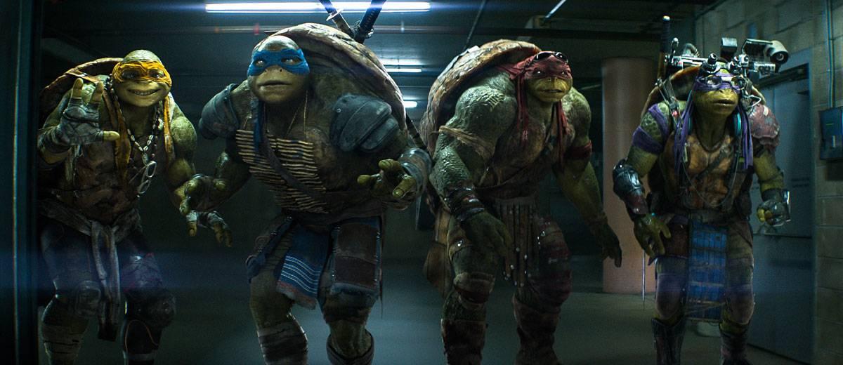 Los hermanos Donatello, Michelangelo, Leonardo y Raphael en la película 'Ninja Turtles' (Las Tortugas Ninja)