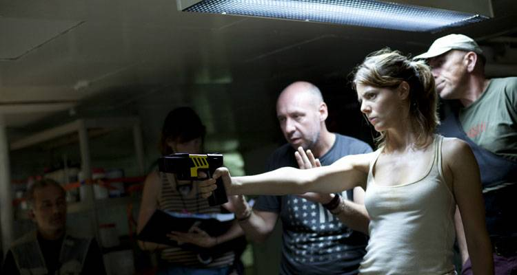 Manuela Velasco y Jaume Balagueró durante el rodaje de 'Rec 4 , Apocalipsis'