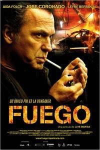 """Cartel de la película """"Fuego"""" con José Coronado"""