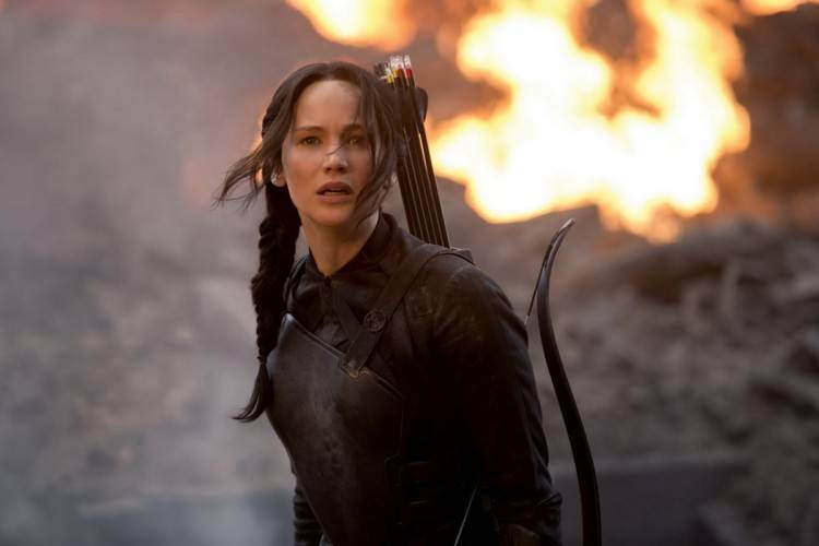 "Foto de Jennifer Lawrence de la película ""Sinsajo Parte I"""