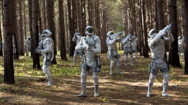 """Foto de soldados de Panem de la película """"Sinsajo Parte I"""""""