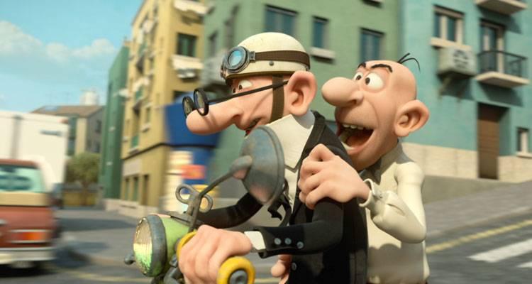 Mortadelo y Filemón dando una vuelta en moto en 'Mortadelo y Filemón contra Jimmy el Cachondo'