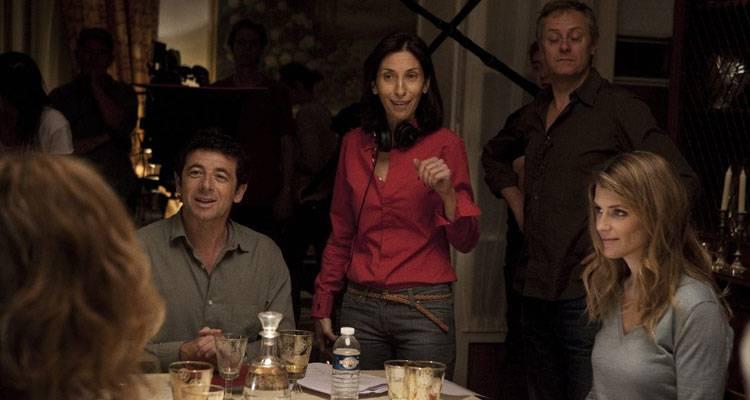 Alice Taglioni y Patrick Bruel en 'Paris-Manhattan' rodando con Sophie Lellouche