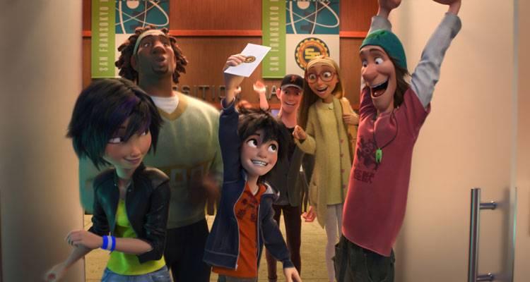 """El grupo friki que podrá freno al mal en una escena de """"Big Hero 6"""", lo nuevo de Disney"""